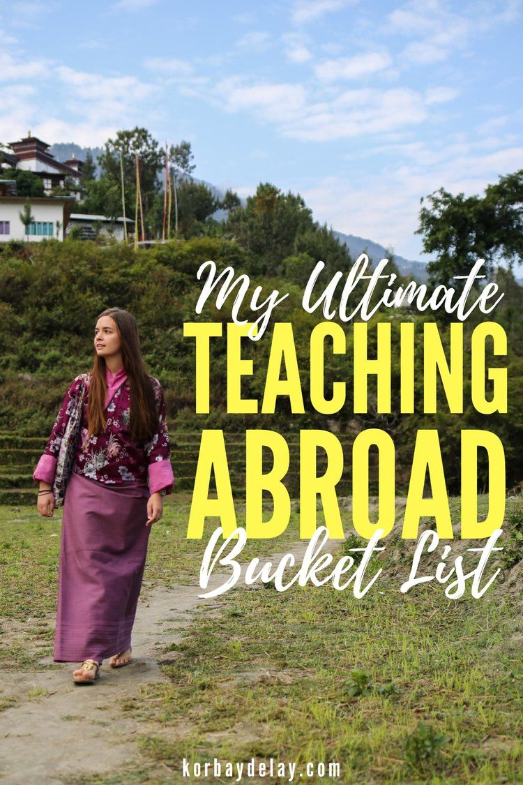 A bucket list of teaching abroad jobs around the world