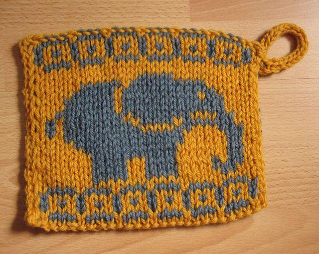 Ravelry: Doubleknit potholder Elephant # 2 pattern by Susi Sunshine ...