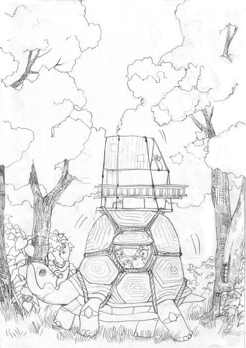 거북 익스프레스 Turtle Moving Company, sketch