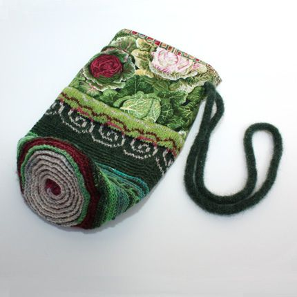 Growing Cabbages. A folk bag by Peony And Parakeet.