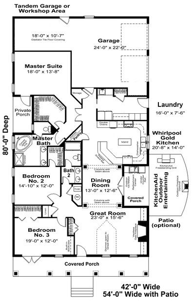 Nice House Plan 1776 00060   Traditional Plan: 2,208 Square Feet, 3 Bedrooms, 2  Bathrooms
