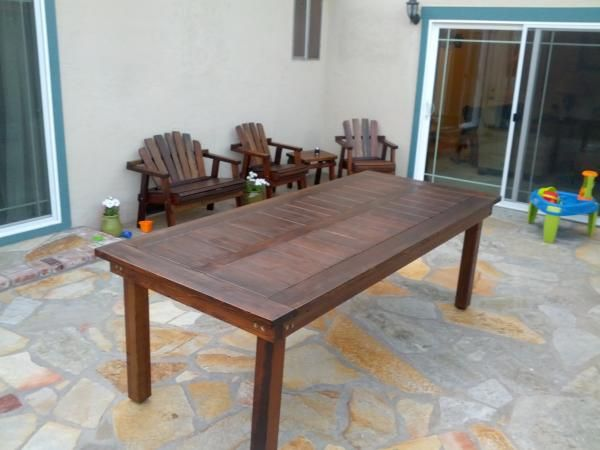 Oversized Redwood Heavy Duty Outdoor Dining Table Do It Yourself Home Projects From Ana White