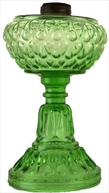 Teardrop Green Lamp