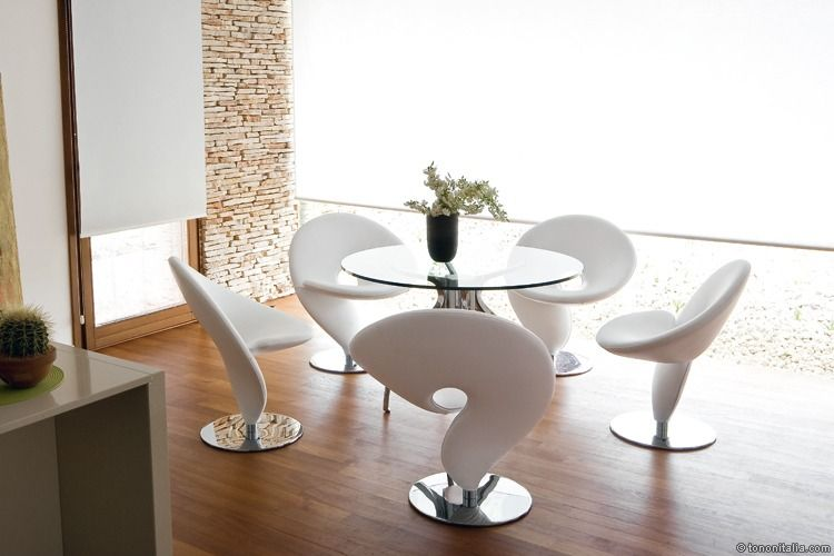 """Question mark"" chairs - from Tonon Italy"
