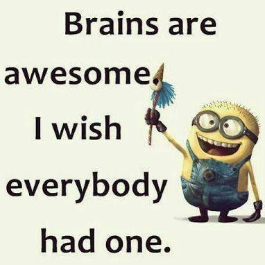 Minion Brain ! Minions funny, Despicable me funny