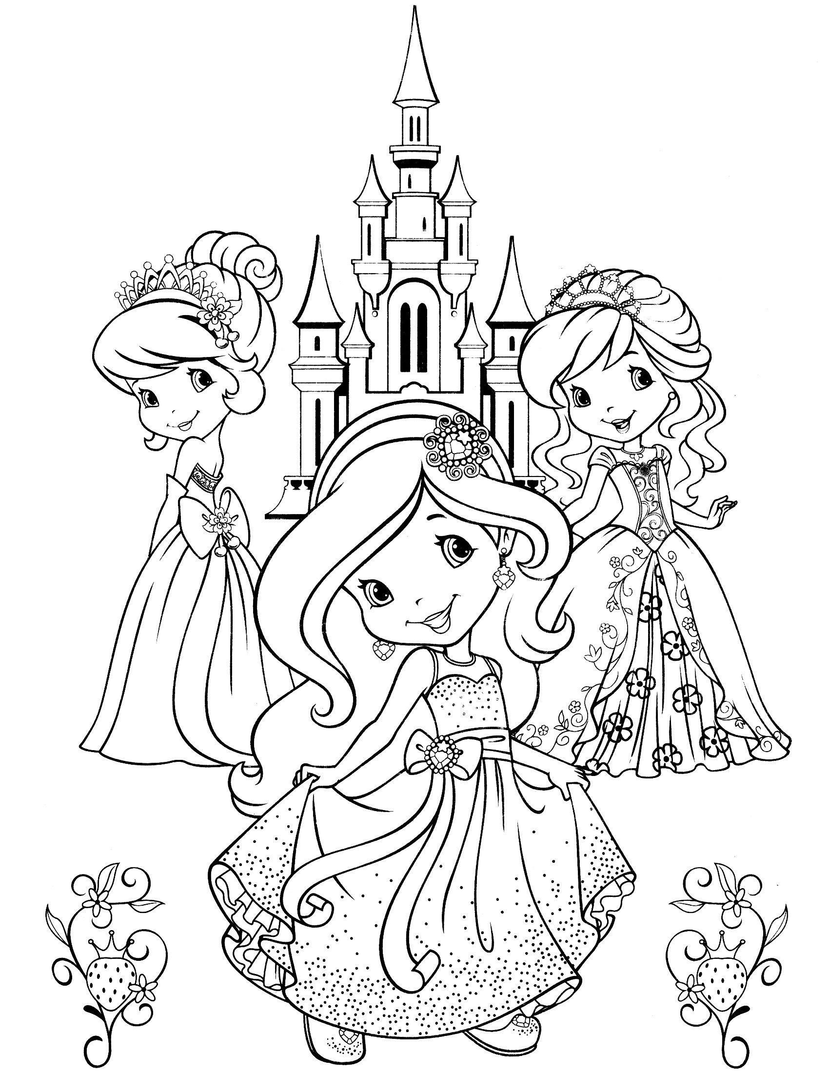 strawberry shortcake coloring page | Ausmalbilder Mädchen ...