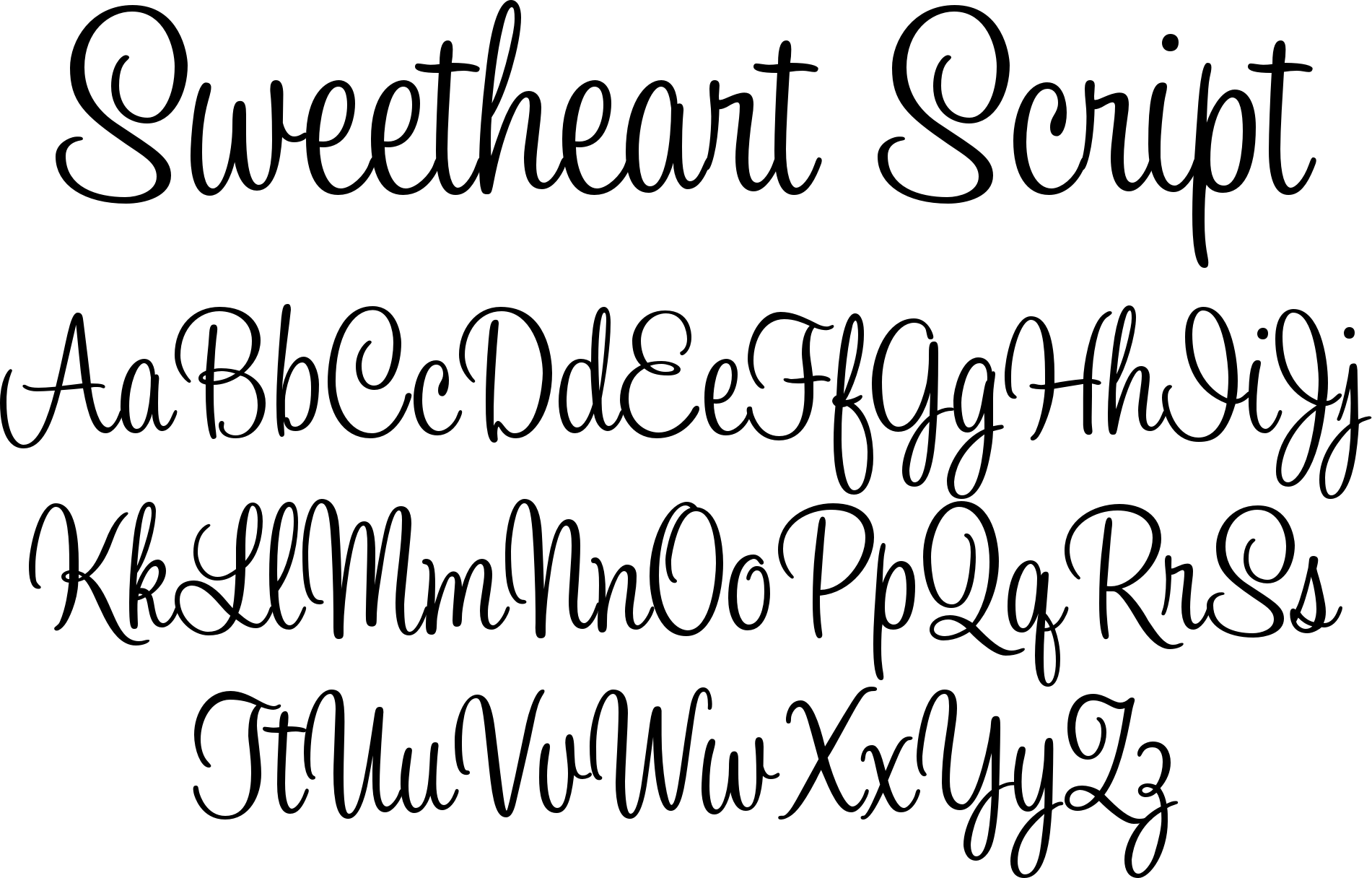 Sweetheart script tattoos that i love pinterest high for Flowy tattoo fonts