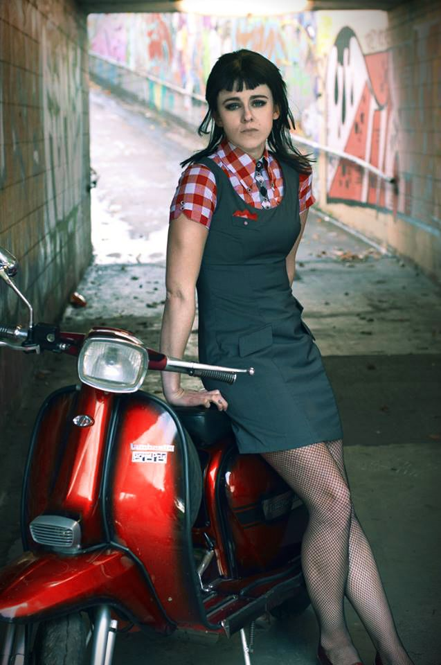 Lambretta Girl | Cafe racer girls | Pinterest