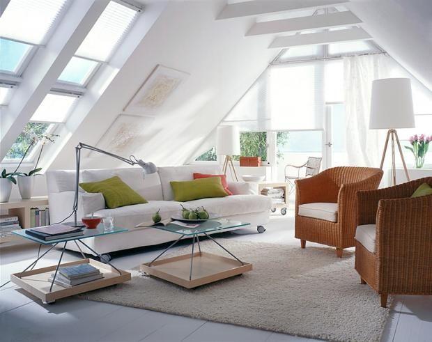 rollos einfach praktisch wohnideen pinterest dachgeschoss raum und dachboden. Black Bedroom Furniture Sets. Home Design Ideas
