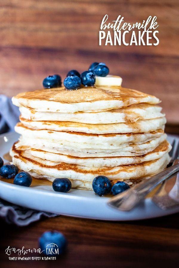 Fluffy Buttermilk Pancakes Longbourn Farm Recipe In 2020 Buttermilk Pancakes Fluffy Delicious Breakfast Recipes Buttermilk Pancakes