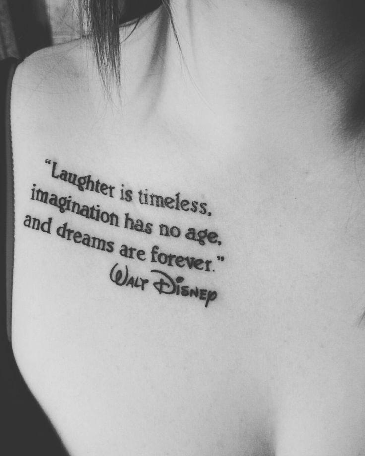 76 Amazing Disney Tattoo Designs Tatouage Clavicule