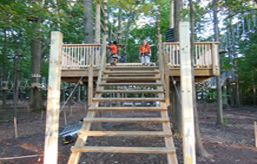 Sandy Springs Zip Line Adventure Park In Maryland For Ages 5