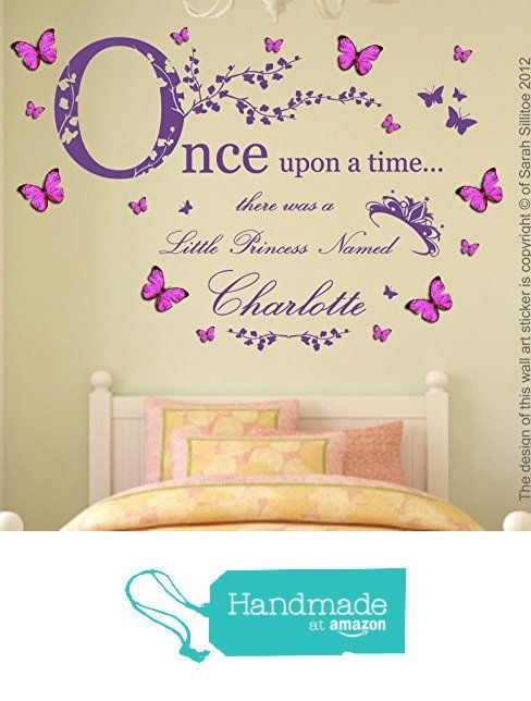 Personalised name, Princess, Once upon a time, Vinyl Wall Art ...