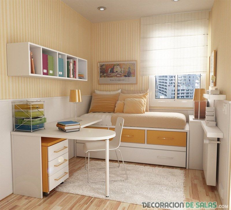 Dormitorio Juvenil Pequeno Dormitorios Juveniles Pinterest - Dormitorio-juvenil-pequeo