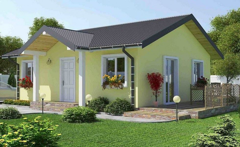 3 proiecte de case fara etaj cu 2 dormitoare case for Case de vis cu etaj