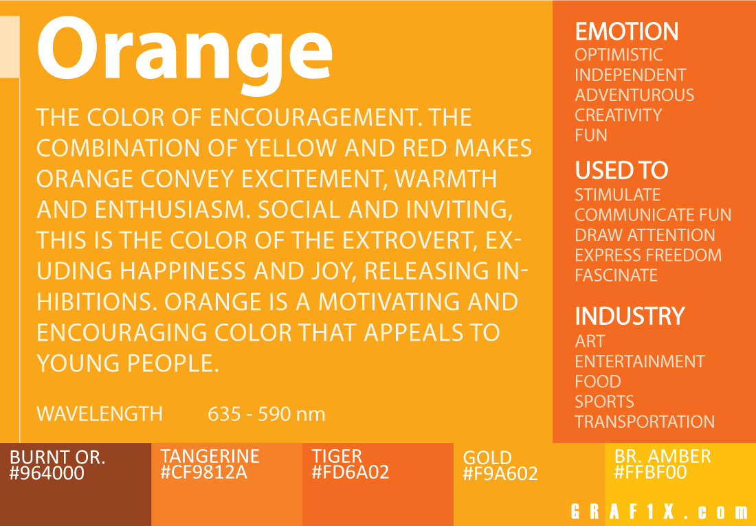 Orange Color Meaning  Art  Color Meanings, Color, Red -9019