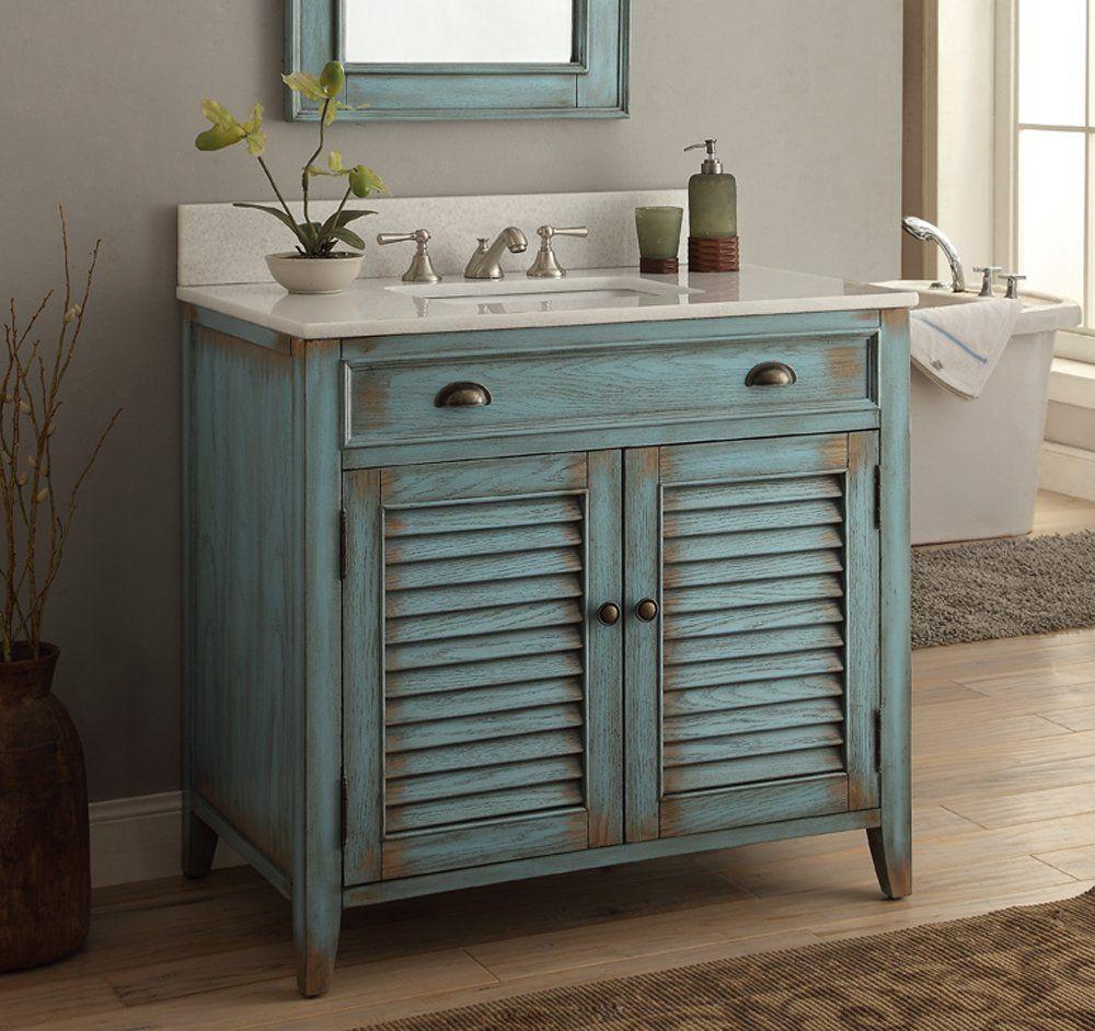 36 Cottage Look Abbeville Bathroom Sink Vanity Cabinet Model  # Muebles De Bano Look
