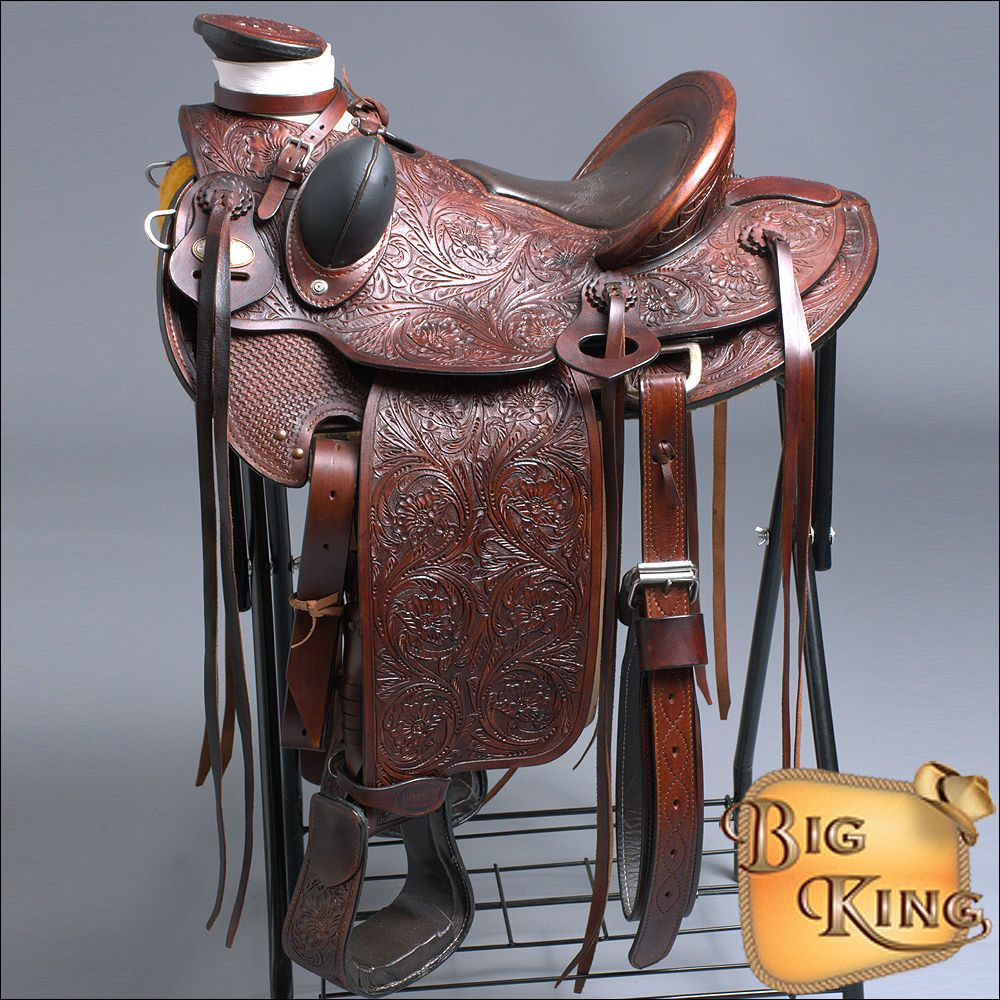 WD005AM-F HILASON BIG KING WESTERN WADE RANCH ROPING COWBOY