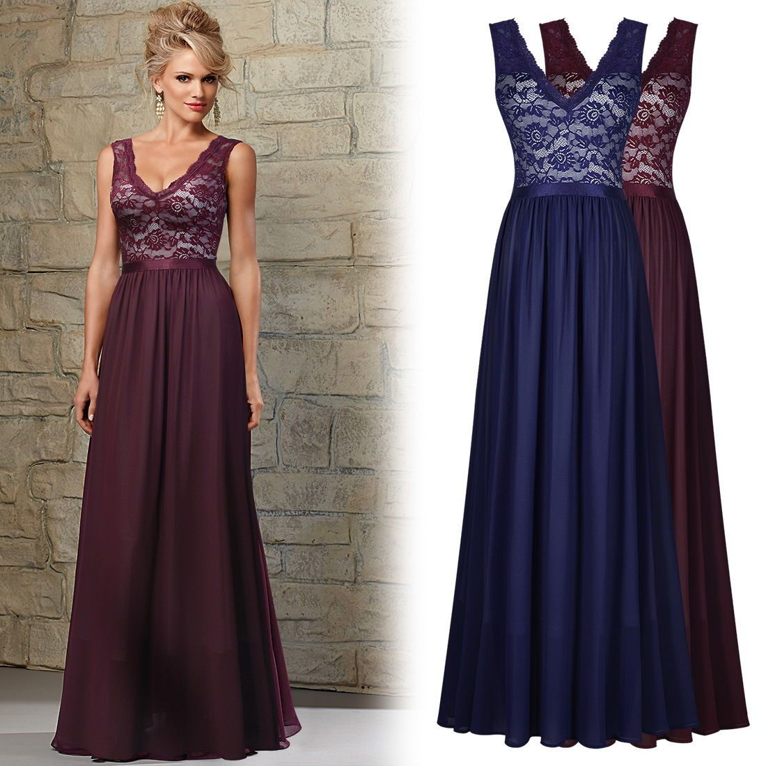 Cool awesome womenus vintage bridesmaid evening dress gown party