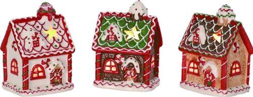 "The Jolly Christmas Shop - 5"" Gingerbread House Tea Light Holders Set of 3, $18.99 (http://www.thejollychristmasshop.com/5-gingerbread-house-tea-light-holders-set-of-3/)"