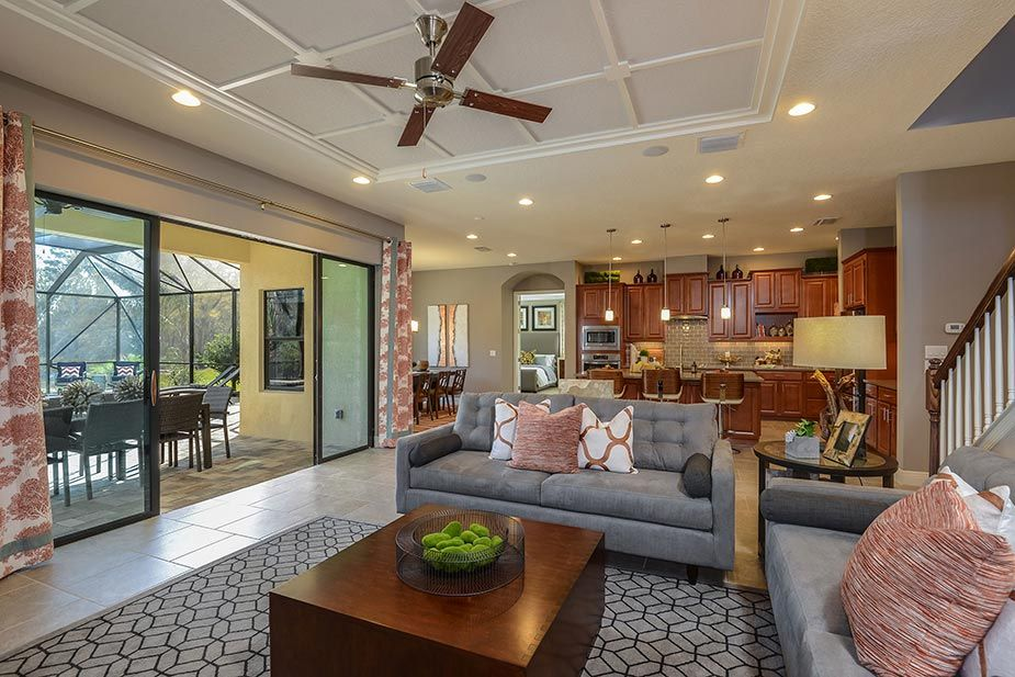 The Large Grand Room Opens Up To The Lanai Screened Porch In Our