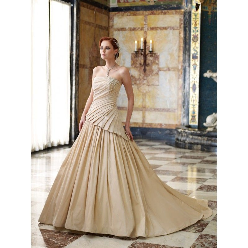 Wedding Gowns For Golden Wedding : Wedding dresses with color in
