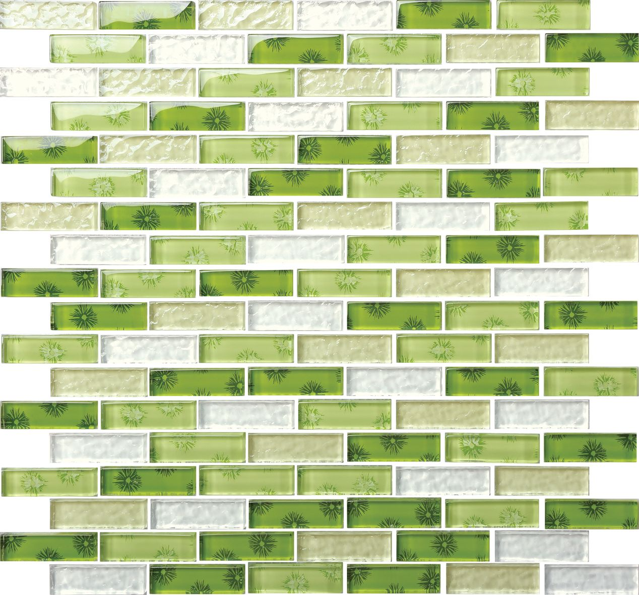 Fresh Green Blue Glass Mosaics Tile Stone Added For ...