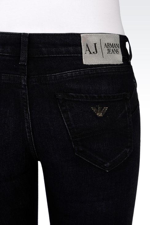 27ee5929335 Armani Jeans Women Jeans - BLACK WASH PUSH UP JEANS Armani Jeans Official  Online Store