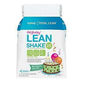 GNC Total Lean™ 10th Birthday Lean Shake™ 25 - Mint Chocolate Layer Cake - LIMITED EDITION FLAVOR - GNC - GNC