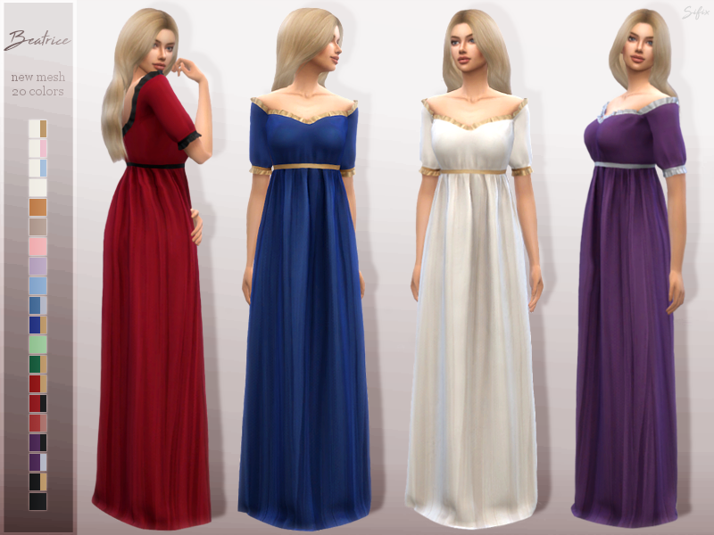 Beatrice Dress [ts4_adult_fullbody] [ts4_bacc_elf] [ts4