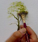 Fan-Stippler-Frühlingsbaum #fruhlingsbaum #stippler #tolepainting