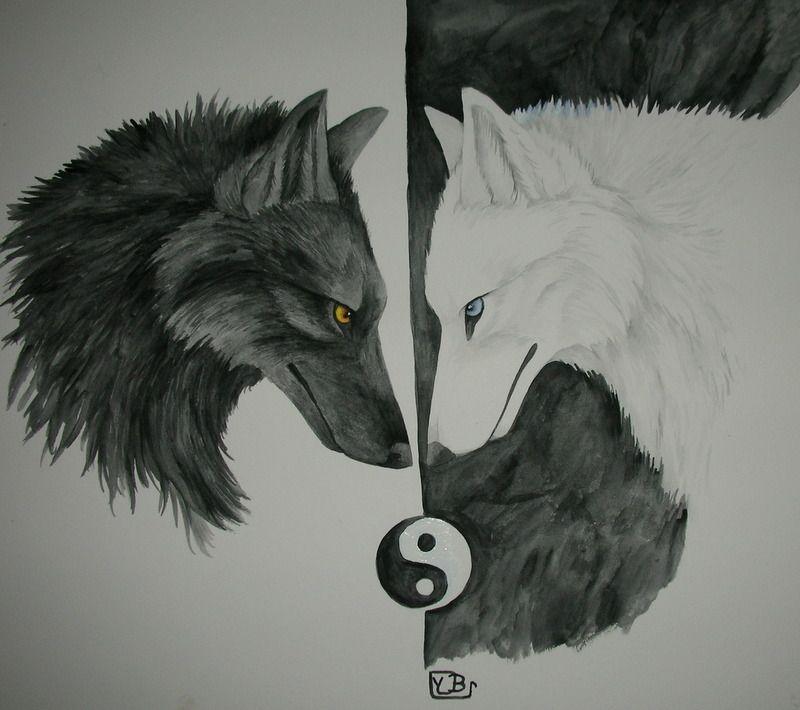 Pin By Nabu Synneusis On Yin Yang Pinterest Wolf Art And Drawings