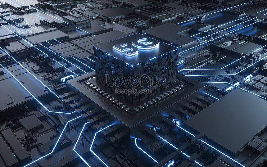 scene of technological chip Digital media marketing, Web