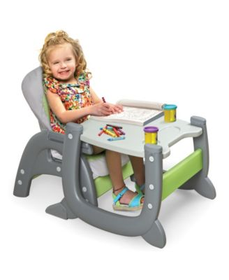 Envee Ii Baby High Chair With Playtable Conversion Green Baby