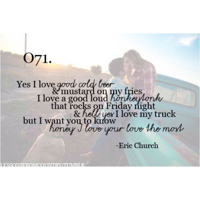 Eric Church First Dance Song Love Funny How A Melody Sounds