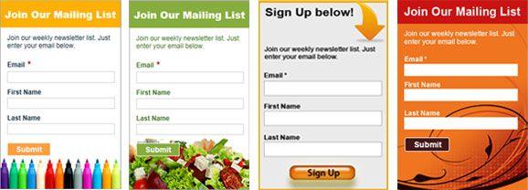 Formularios Campanya publicitaria Pinterest Benchmark email
