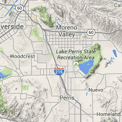 rv parks california map
