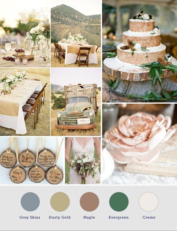 Rustic wedding color palette rustic wedding ideas for Diy wedding ideas for summer