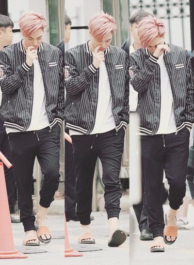 Sleepy Jongin In His Flip Flops Exo Kai Kai Kim