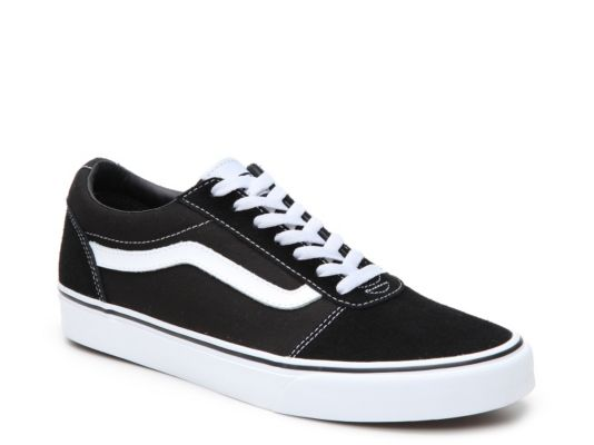 Men's Vans Ward Lo Suede Sneaker BlackWhite | Suede