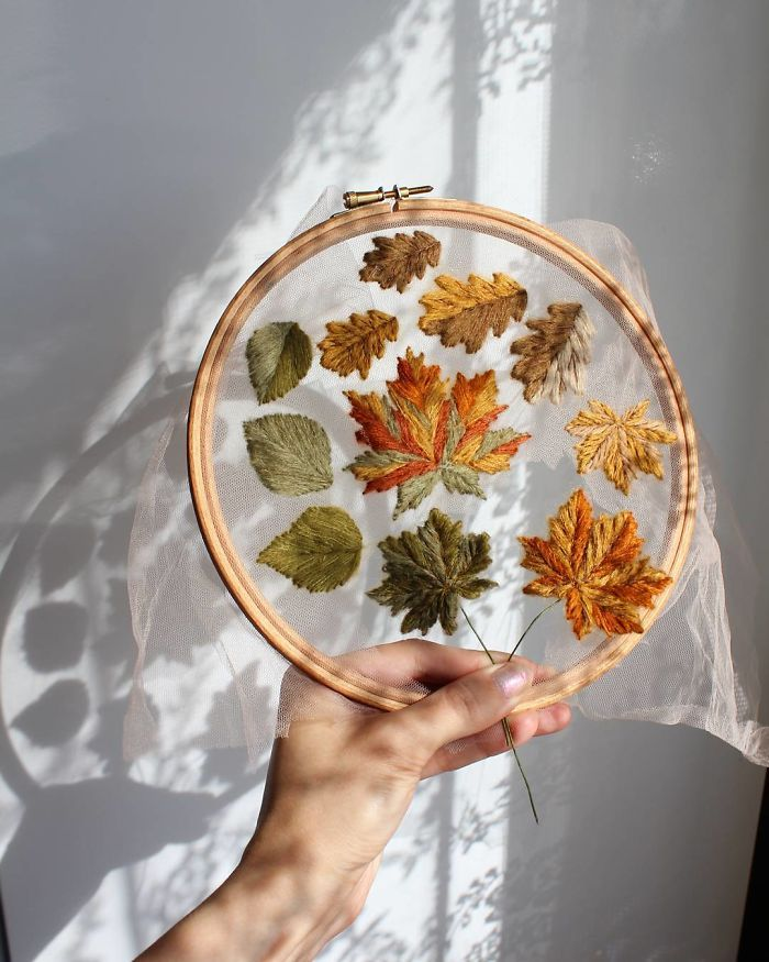 Embroidery Artist Makes Her Designs 'Float' In Mid-Air By Using Tulle