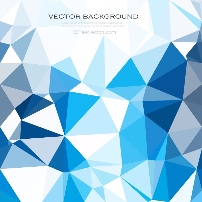 Sky Blue Abstract Geometric Polygon Background Image In 2019