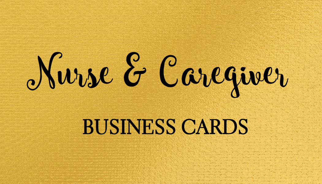 A collection of stylish nursing and caregiver business cards just ...