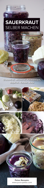 Sauerkraut einfach mal selber machen. Es macht viel Spass Gemüse zu ...