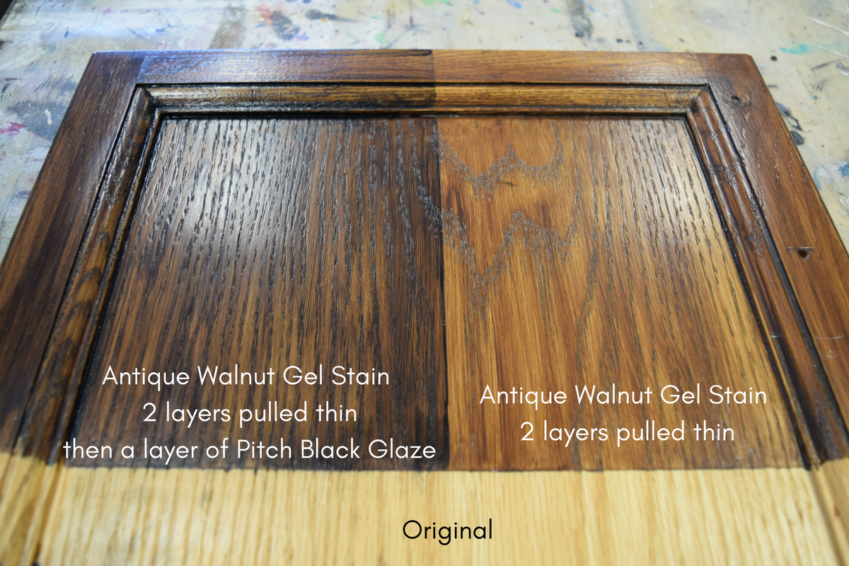 Antique Walnut General Finishes Gel Stains By General Finishes Tips And Tricks In Gel Stain Furniture General Finishes Gel Stain Stained Kitchen Cabinets