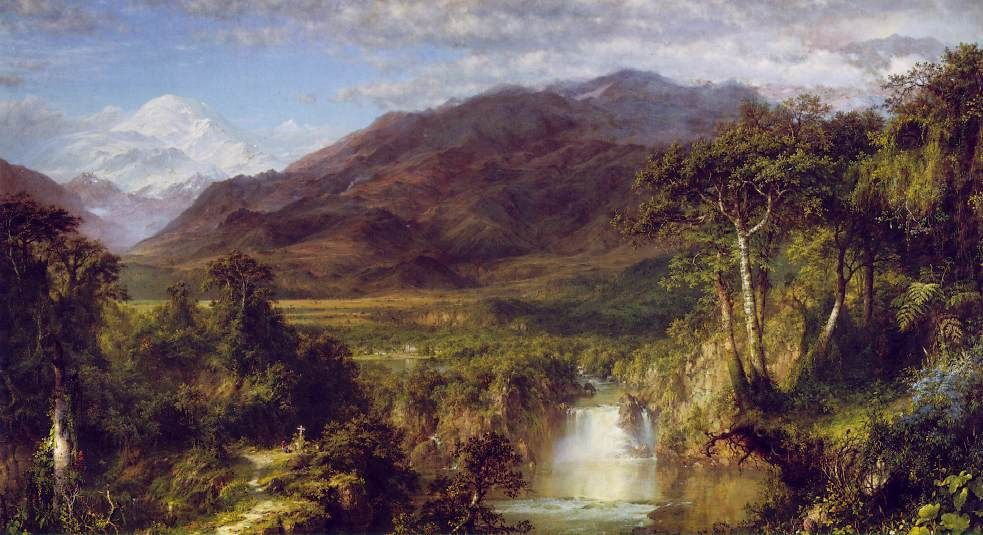 Heart Of The Andes Fredrick Edwin Church 1859 Early American