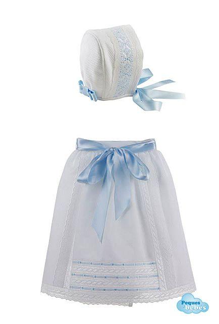 Conjunto de faldón de cintura y capota de piqué a juego para recién nacidos  y bebés 4362ae0cd883