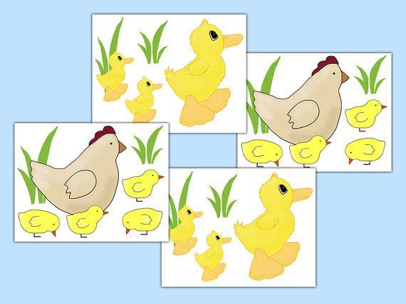 FARM ANIMAL DECALS Chicken Duck Chicks Barnyard Nursery Stickers ...