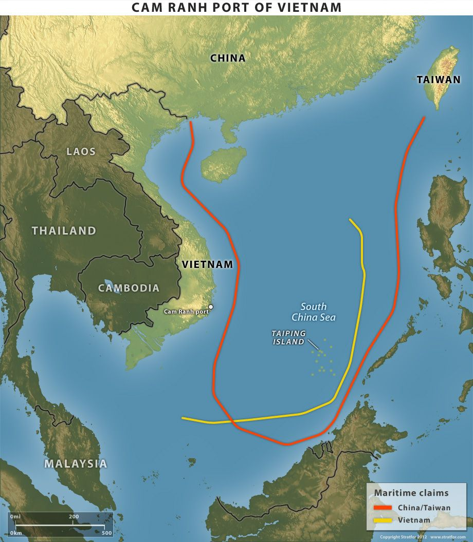 Cam Ranh Bay Port of Vietnam and Conflicting Claims by Vietnam and