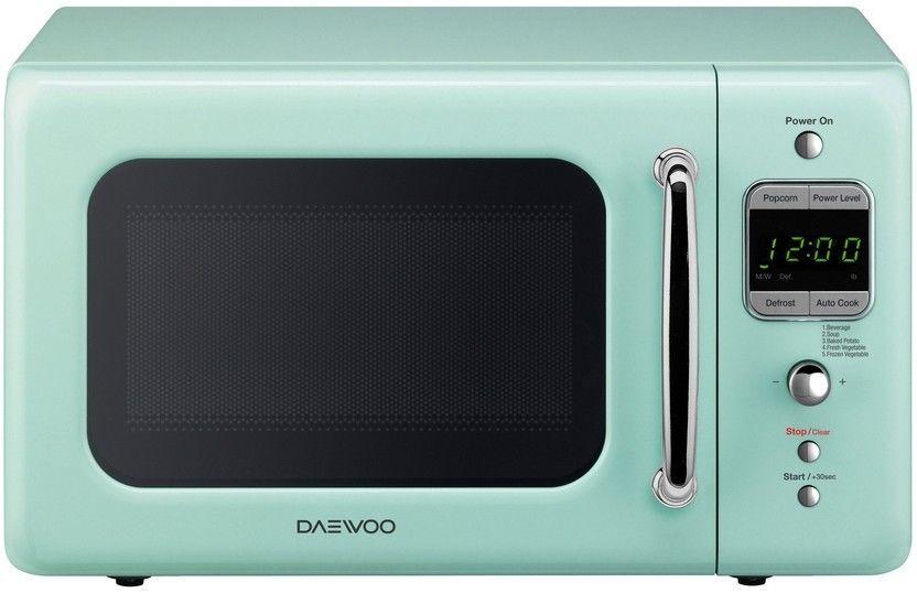78 95 New Daewoo Retro Style 0 7 Cuft 700w Mint Green Microwave